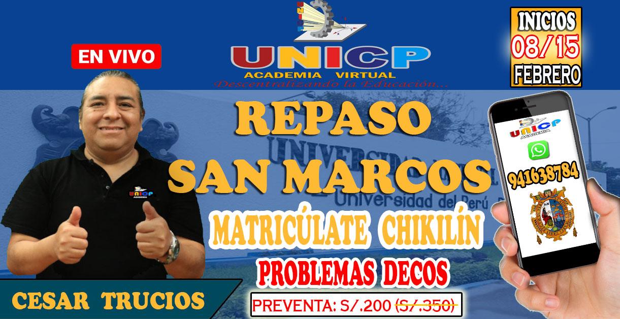 REPASO   SAN  MARCOS  -  2021